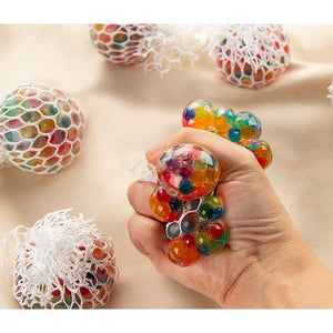 Squishy Mesh Ball Anti-Stress Toy in Rainbow Colors (2 In, 12 Pack)