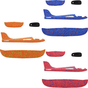 Juvale Kids Foam Airplane Gliders (3 Pack), 3 Colors
