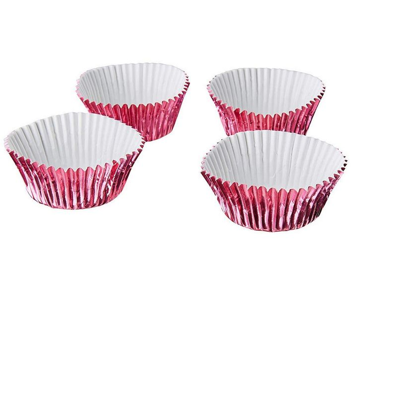 Pink Foil Cupcake Liners, Baking Cups (2 x 1 In, 200-Pack)