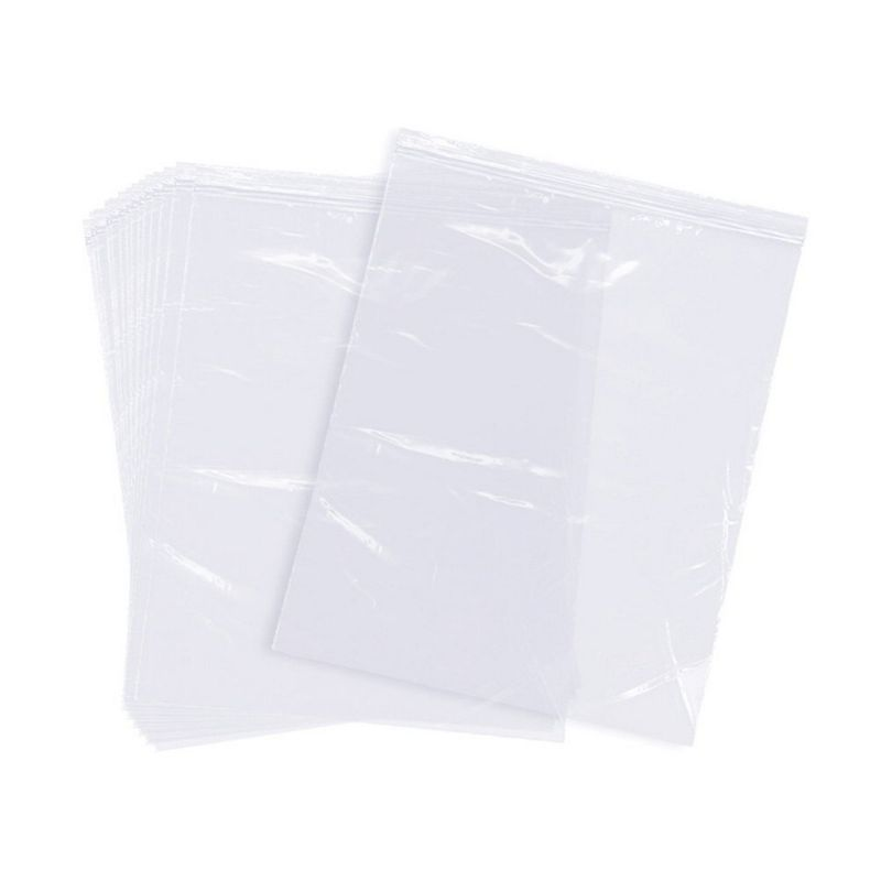 Reclosable Clear Plastic Bags 120PC 2-Gallon Resealable Top Zip Lock Bag