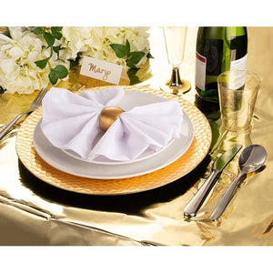 Gold Foil Tablecloth for Party (54 x 108 in, 3 Pack)