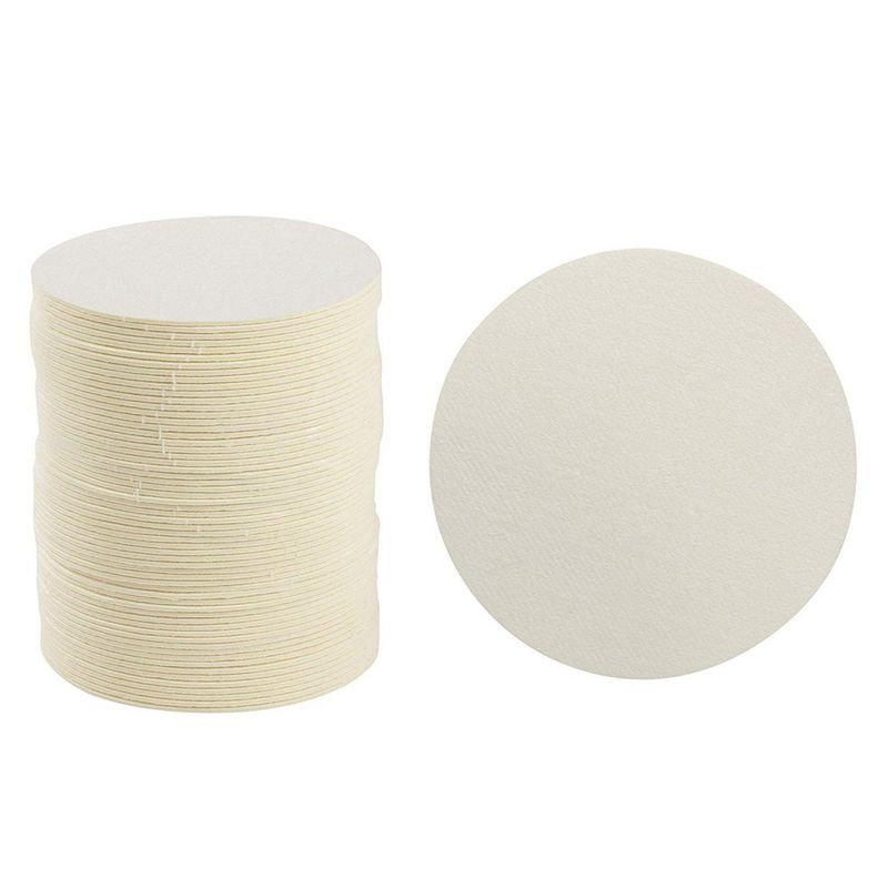Cardboard Coasters - 150-Pack Disposable Heavyweight Coasters, Round Paper Coasters, Plain Blank Design, Fits Most Drinking Glasses, Ideal for Wedding, Parties, Catering, Bar, DIY Crafts, 4 Inches