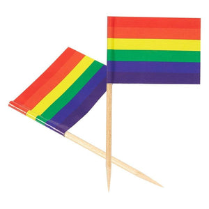 LGBTQ Gay Pride Rainbow Flags for Cupcake Toppers, Cocktail Picks, Appetizers (200 Pack)