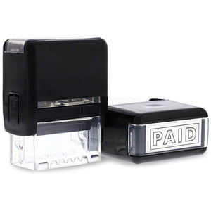 2x Paid Self Inking Stamps Rubber Stamp for Office, Red Ink, 1.25 x 0.4 inches