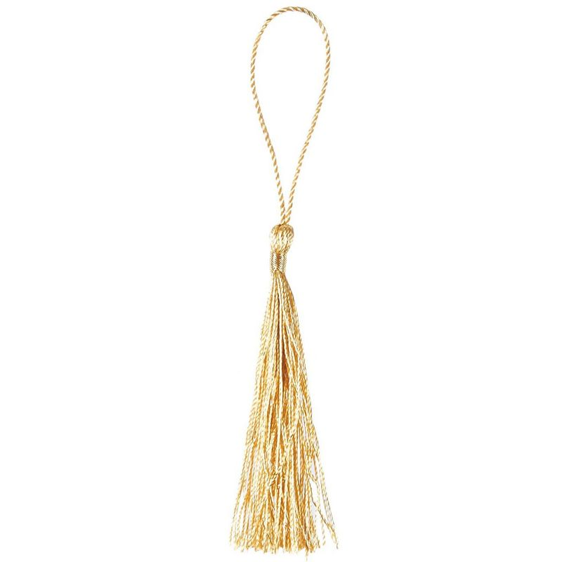 Bookmark Tassels - 150-Pack Silky Floss Tassel Pendant with 2.3-inch Cord Loop - Ideal for Handmade Craft Accessory, DIY Jewelry Making, Home Decoration, Souvenir - Gold, 0.1 x 5.4 x 0.1 inches