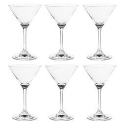 Martini Glasses - 6-Set Clear Classic 5-Ounce Cocktail Glasses, Inverted Cone
