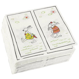 100-Pack Decorative Napkins - Disposable Paper Party Napkins with Easter Bunnies Designs - Perfect for Birthday Parties, Celebrations and Special Occasions, 13 x 13 Inches