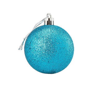 Juvale 36-Pack Christmas Tree Ornaments - Glitter White, Silver, Gold, Rose Gold, Shatterproof Medium Christmas Balls Decoration, 4 Assorted Colors, Hanging Plastic Bauble Holiday Decor, 2.3 Inches