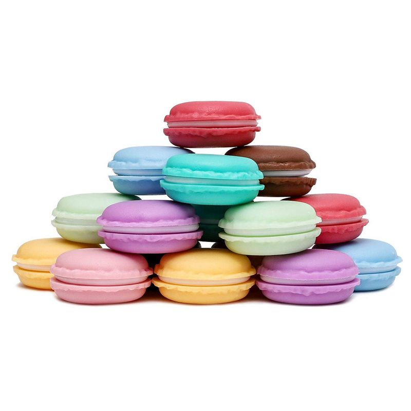 Juvale 16-Pack Mini Macaron Jewelry and Pill Storage Box Containers, Assorted Colors, 1.5 x .5 Inches