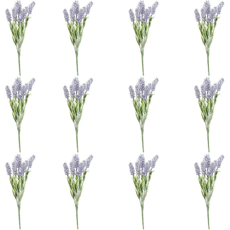 12x Artificial Fake Lavender Flowers Wedding Birthday Baby Bridal Shower Décor