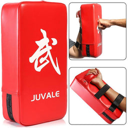 Juvale Kickboxing Training Pads (Red, PU Leather)