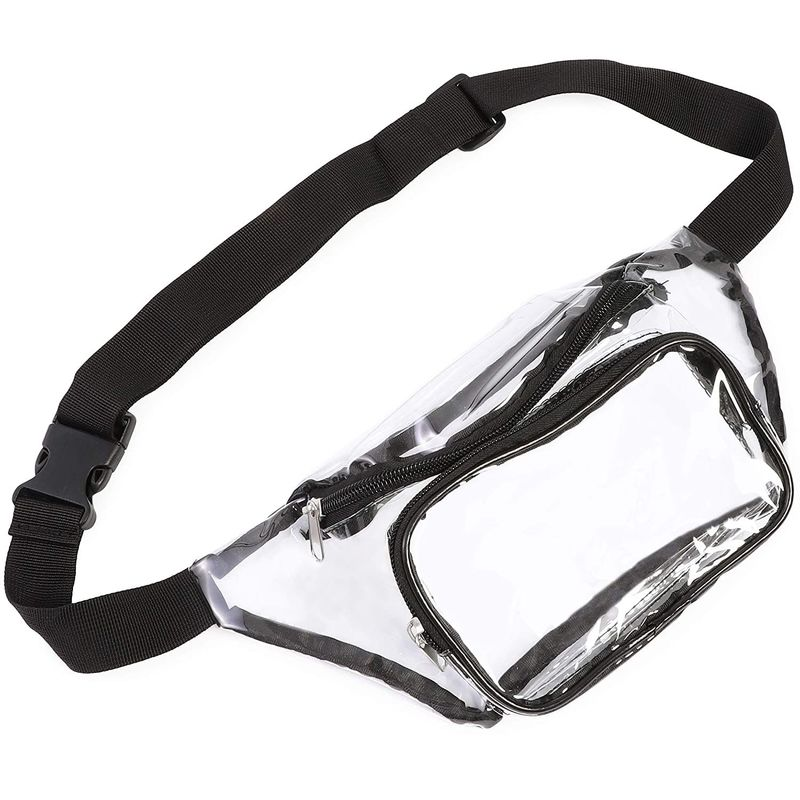Clear Fanny Pack, Waterproof Waist Bag for Travel Beach Concert Stadium Approved