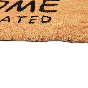 "Dogs Welcome People Tolerated Door Mat, 17""x30"" Indoor Outdoor Coir Doormat"