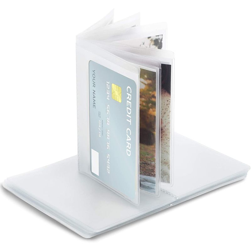Set of 4 Plastic Inserts for Credit Cards 6-Page each Fits Bifold Trifold Wallet