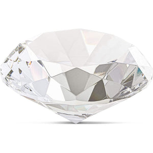 "100mm 4"" Clear Diamond Shaped Jewel Crystal Glass Paperweight for Wedding & Home"