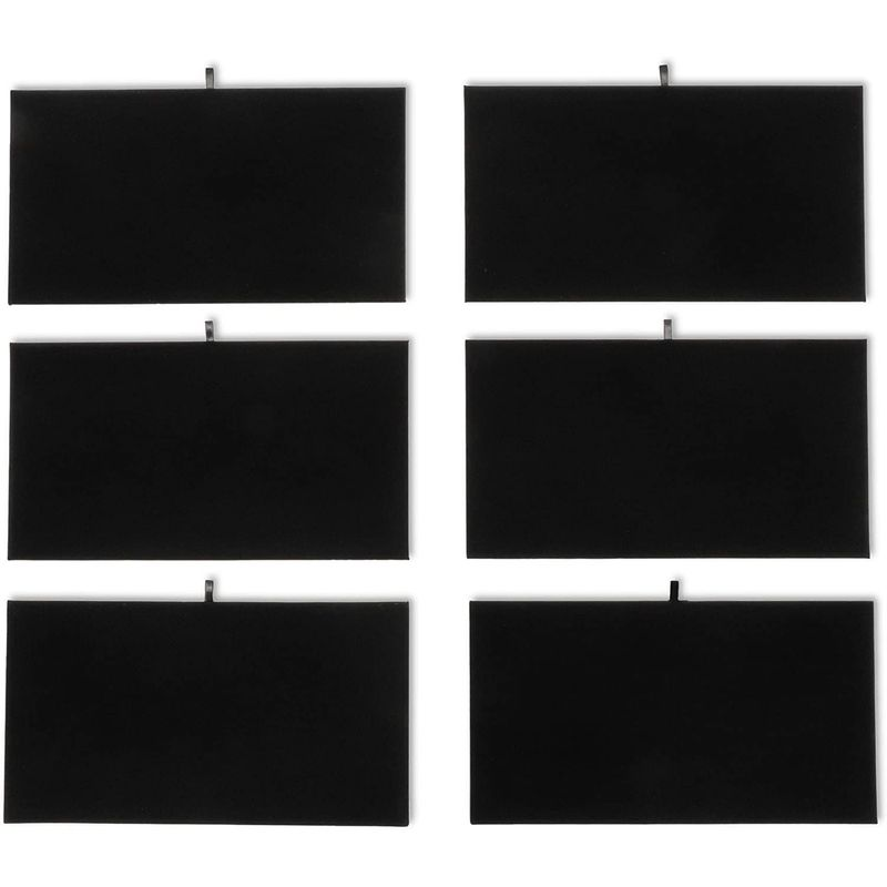 Black Velvet Jewelry Accessory Display Pads (14 ⅛ in., 6 Pack)