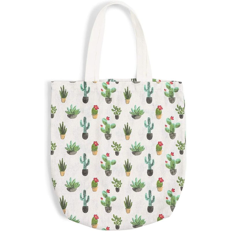 Reusable Cotton Grocery Shopping Tote Bags (15 x 16.5 In, 3 Pack)