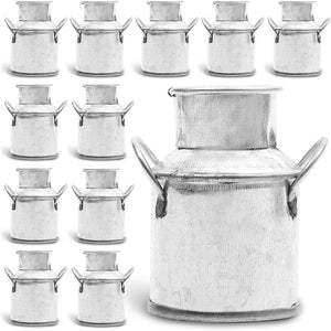 Juvale 12 Pack Mini Galvanized Metal Jug for Holidays, Weddings and Home Decor