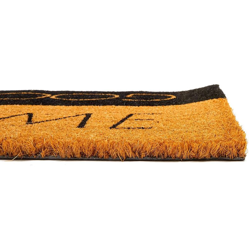 Welcome Goodbye Coir Door Mat Floor Doormat Carpet Rug for Indoor Outdoor 30x17
