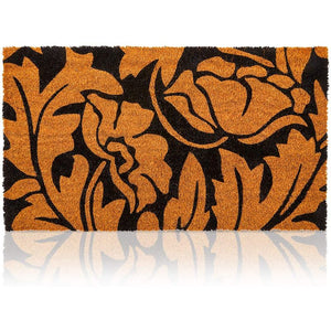 Floral Coir Door Mat Welcome Floor Doormat Nonslip Carpet Rug Indoor Outdoor