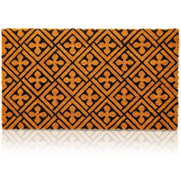 Cross Coir Door Mat Welcome Floor Doormat Nonslip Carpet Rug Indoor Outdoor