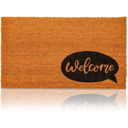 Welcome Coir Door Mat Floor Doormat Nonslip Carpet Rug for Indoor Outdoor 30x17