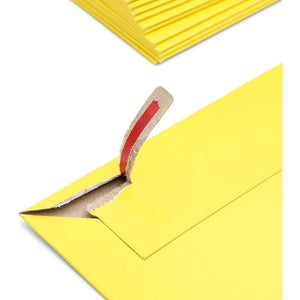48-Pack #10 Rigid Mailers, Cardboard Envelopes Self Seal with Tear-Strip, Yellow