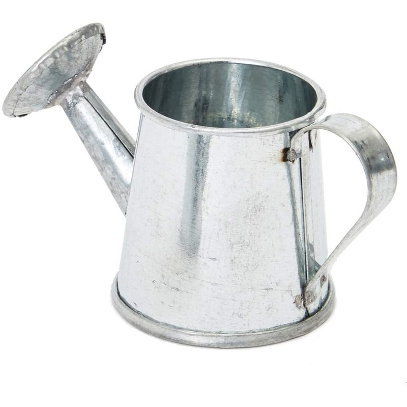 Juvale Mini Galvanized Metal Decorative Watering Can (3 x 1.6 x 1.6 in, 12 Pack)