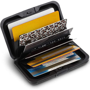 RFID Wallets for Men, Black Card Holder (4.25 x 2.8 In)