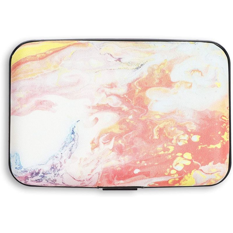 RFID Wallets for Women, Pastel Card Holder (4.25 x 2.8 in)