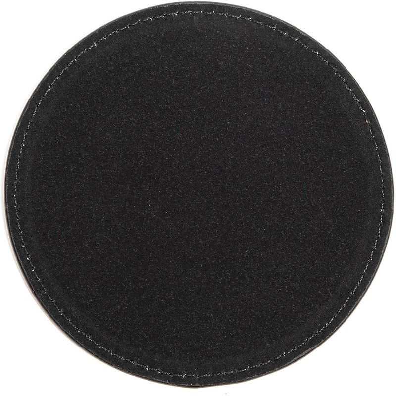 Juvale Round Coasters with Holder, Cheers to That (PU Leathe