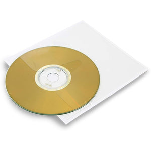 Clear Self-Adhesive CD/DVD Storage Sleeve Pockets (4.93 x 5