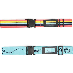 Adjustable Luggage Straps for Women (33.5 x 2 Inches, 2-Pack)