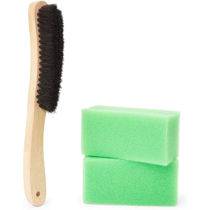 Hat Cleaning Kit with Brush and Cleaning Sponges (3 Pieces)