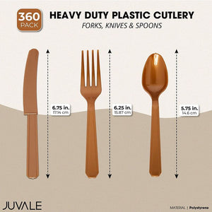 Heavy Duty Plastic Cutlery, Includes Forks, Knives & Spoons
