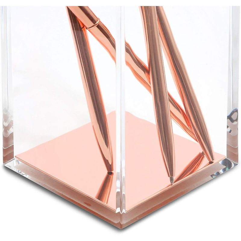 Clear Acrylic Pencil Holder for Desk and Office Organization