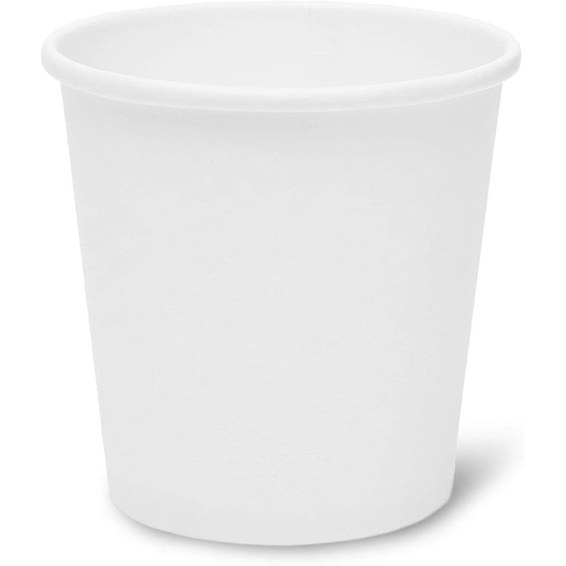 Hot and Cold Insulated Paper Cups (4 oz, White, 300-Pack)
