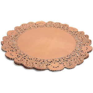 Lace Paper Doilies, Rose Gold Placemats, Decor (5 Sizes, 100 Pack)