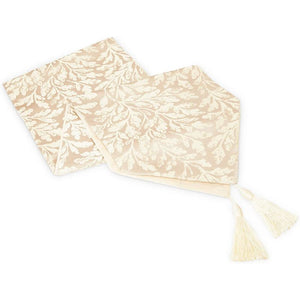 Juvale Table Runner with Tassels (Beige, 12 x 78 in.) 2#