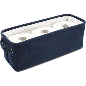 Cotton Fabric Bathroom Storage Bin for Magazines, Toilet Pap