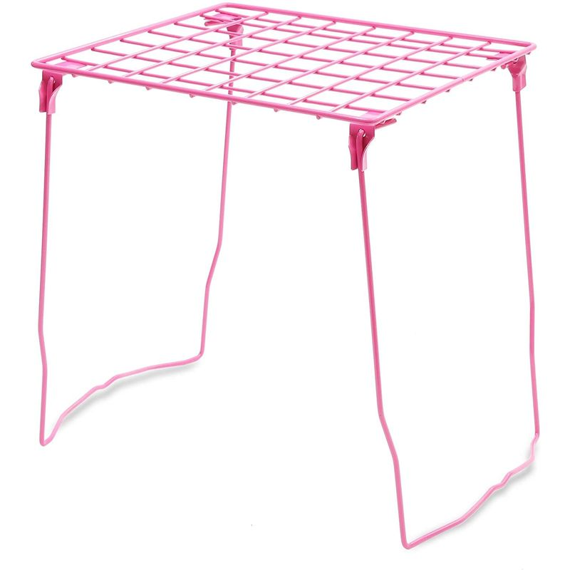 Pink Locker Shelf Organizer for Office and Desk (11.2 x 10 x 12.4 Inches)