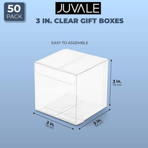Clear Candy Gift Box, Transparent Boxes for Party Favors (2 x 2 x 6 In, 50 Pack)