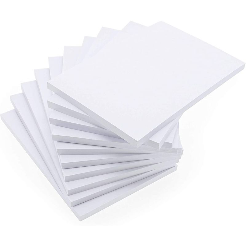 Plain Notepad, Blank Memo Pad (4 x 6 in, 10 Pack)