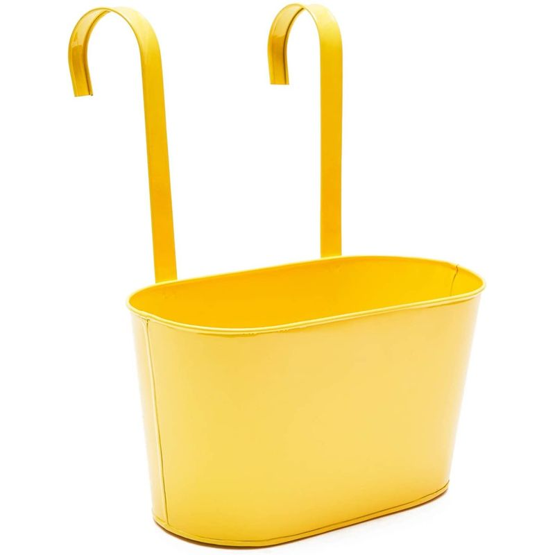 Juvale Metal Bucket Planter, Hanging Planters (12 x 5.5 x 6