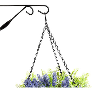 Mounted Wall Hooks for Hanging Garden Planters (12 in, 4 Pack)