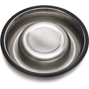 Juvale Stainless Steel Pet Bowls for Cats and Dogs (6.3 in, 2 Pack)