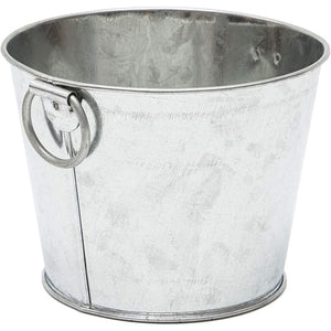 Mini Galvanized Buckets with Handles (4.5 x 3.5 in, 12 Pack)