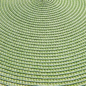 Round Woven Placemats (Green, 15 In, 4 Pack)