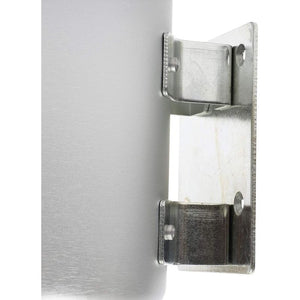 Juvale Wall Mounted Ashtray (6.8 in, Silver, 2 Pack)
