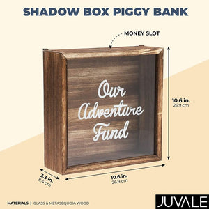 Shadow Box Bank for Money Saving, Our Adventure Fund (10.6 x